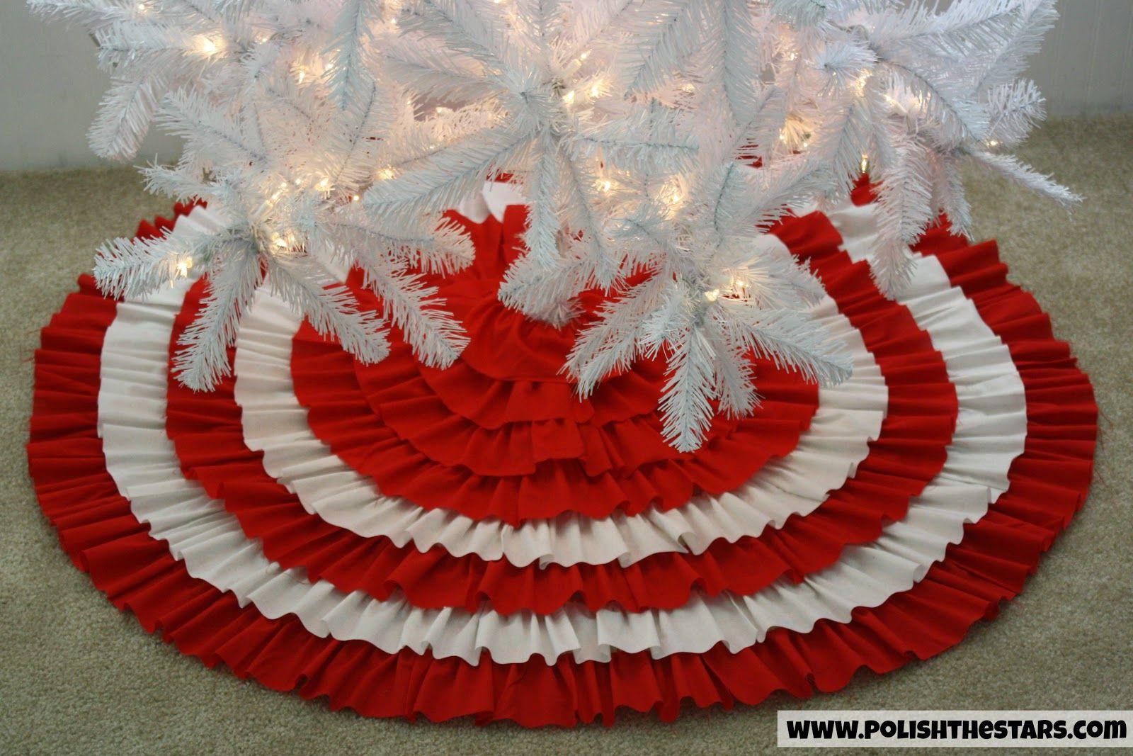Polish The Stars NoSew Ruffled Christmas Tree Skirt