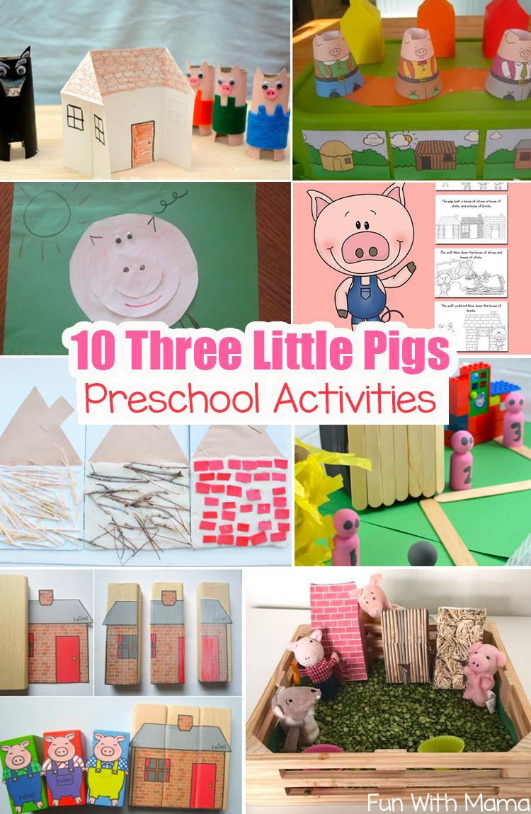 10 Three Little Pigs Preschool Activities Fairy Tales Preschool Preschool Activities Little Pigs [ 1150 x 750 Pixel ]