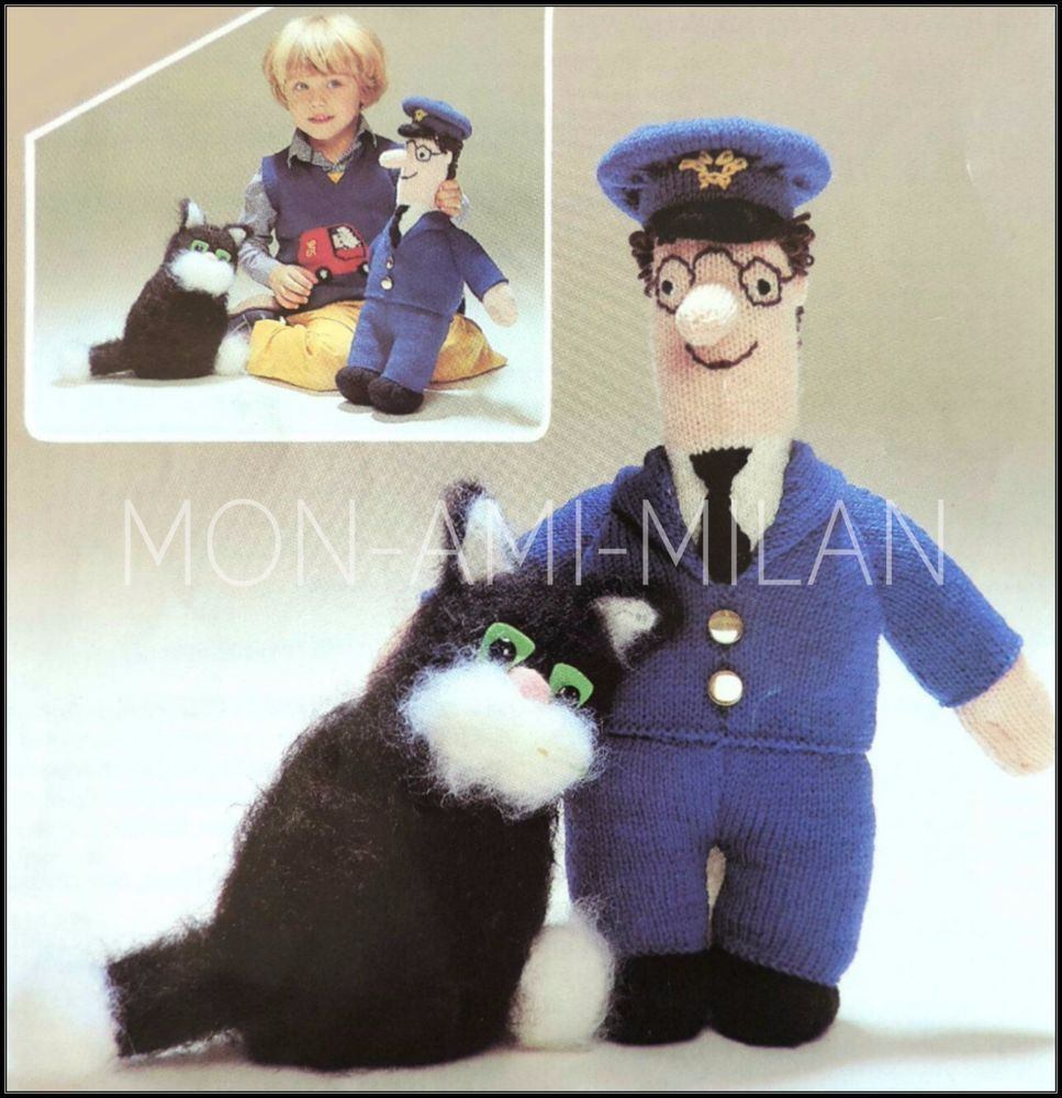 Knitting pattern postman pat doll with clothes jess cat soft knitting pattern postman pat doll with clothes jess cat soft knit toys dt1010fo