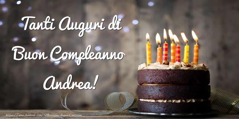 Cartoline Di Compleanno Tanti Auguri Di Buon Compleanno Andrea