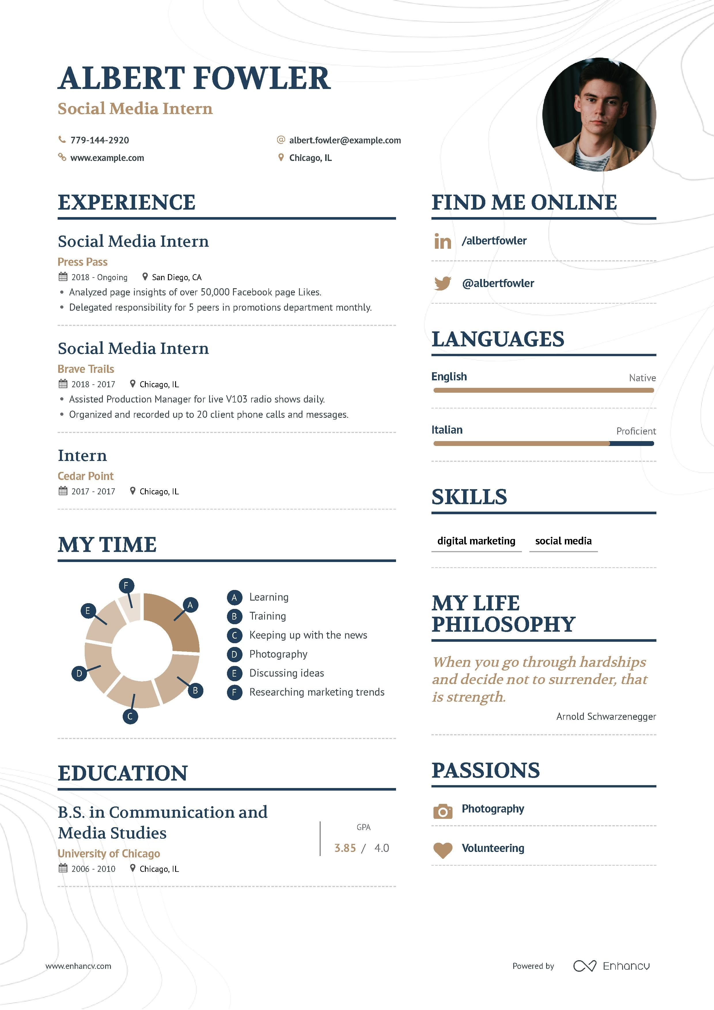 The ultimate 2019 guide for Social Media Intern resume