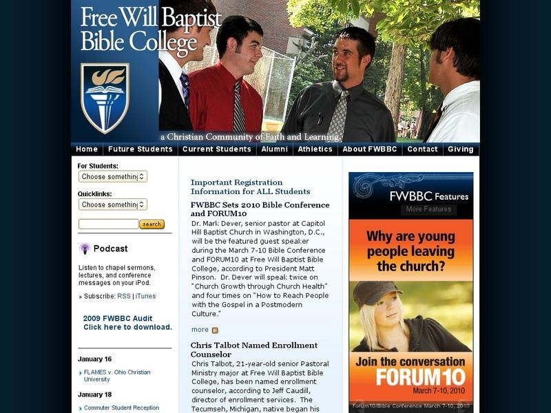 Free Will Baptist Bible College Bible college, Tennessee