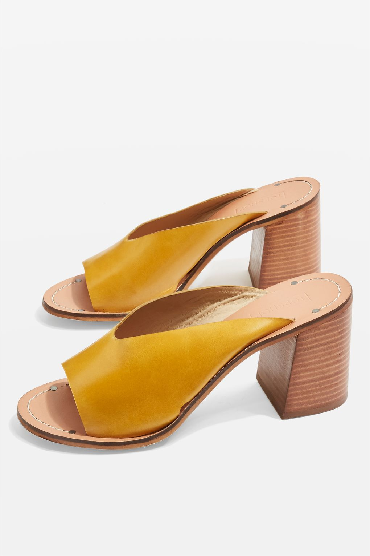 3a91dd3ab97 Netty Block Heel Mule Sandals