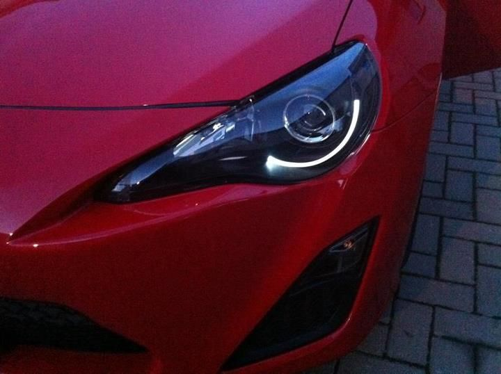 Scion Frs Blacked Out Headlights With Led Accent Stuff