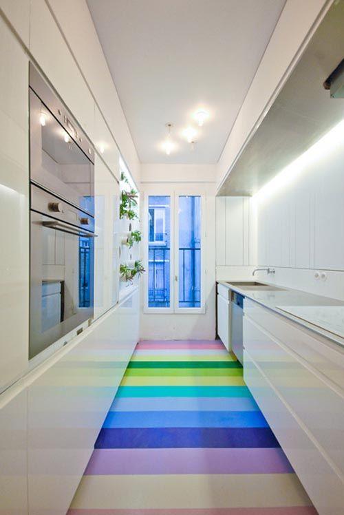 Aménager une cuisine linaire dans un espace couloir | Future ...