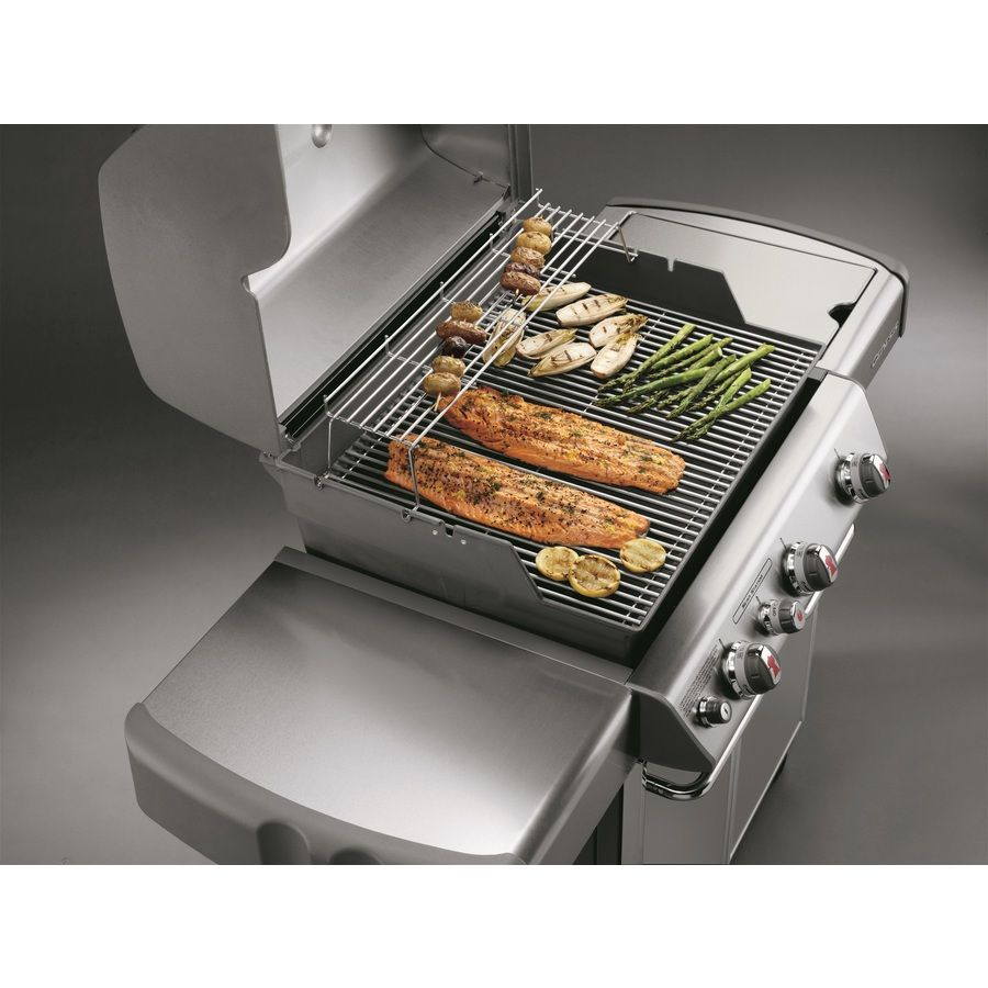 Shop Weber Genesis S 330 3 Burner 38 000 Btu Natural Gas Grill With Side Burner At Lowes Com Natural Gas Grill Lowes Home Improvements Gas Grill