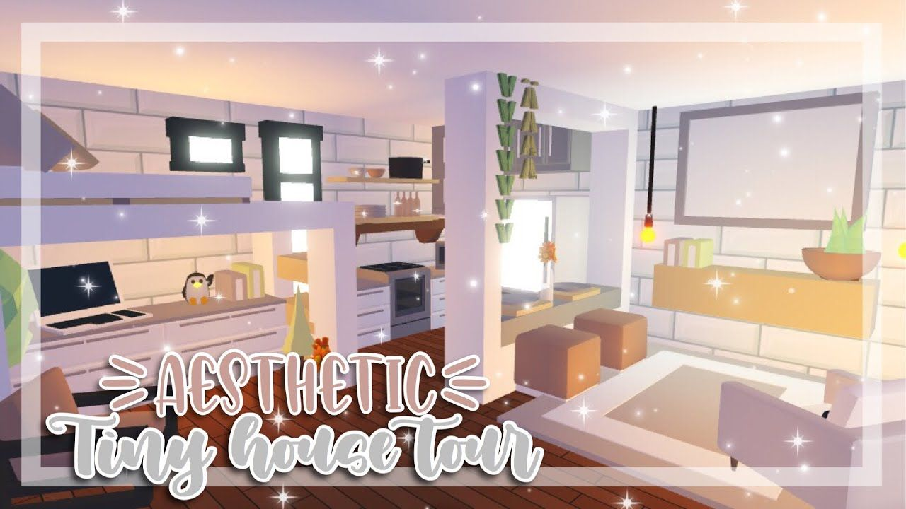 Aesthetic Tiny House Tour Adopt Me Adopt Me House Tour Youtube In 2020 Tiny House Layout Home Roblox Tiny House Design