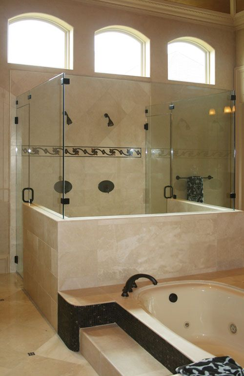 Similar to our current shower but with frameless glass Master