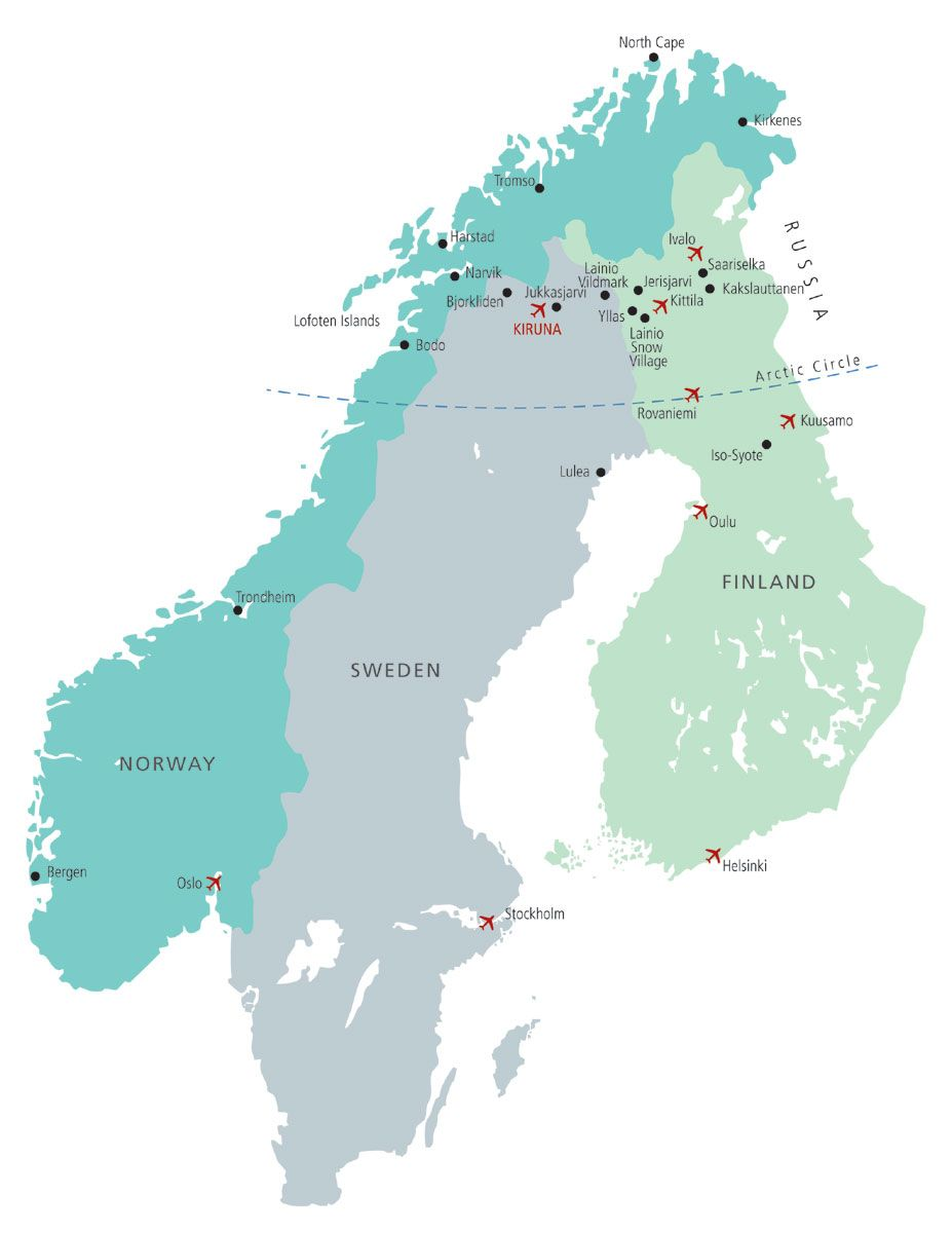 Lapland Map Travel The World Pinterest