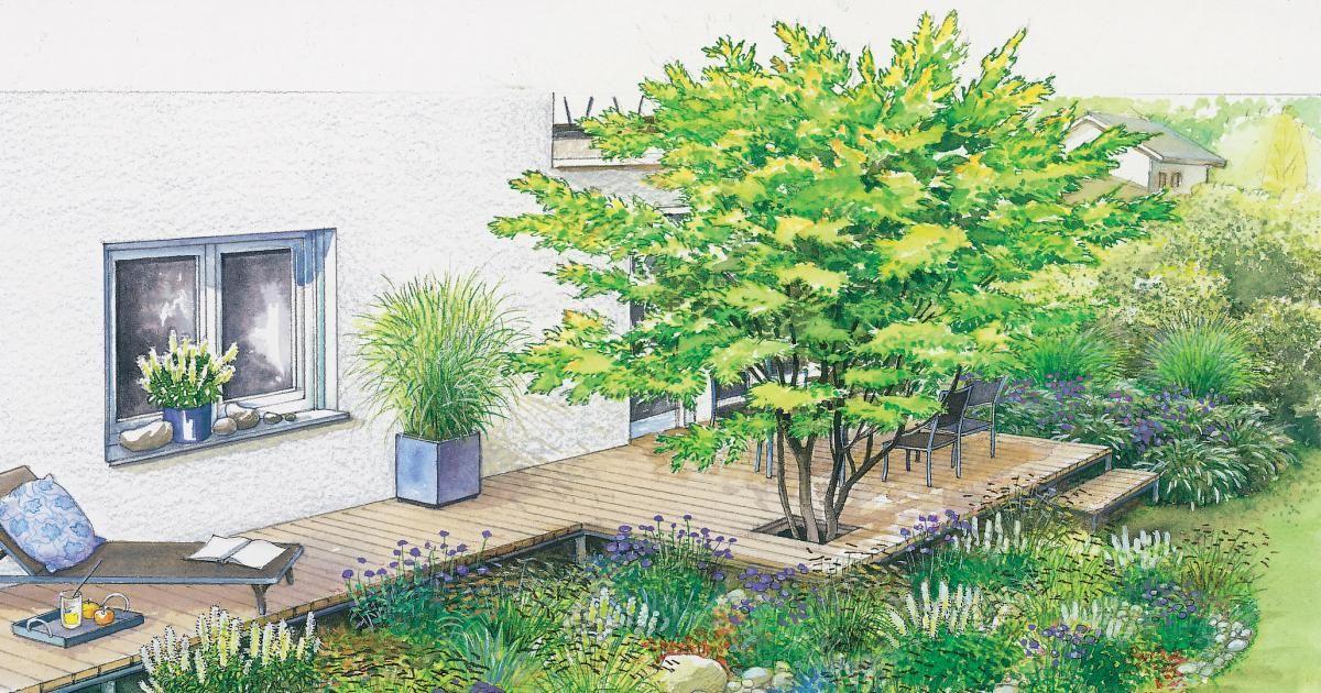 1 Garten 2 Ideen Neues Flair Fur Eine Alte Terrasse Garten Gartenecke Kreative Garten Ideen
