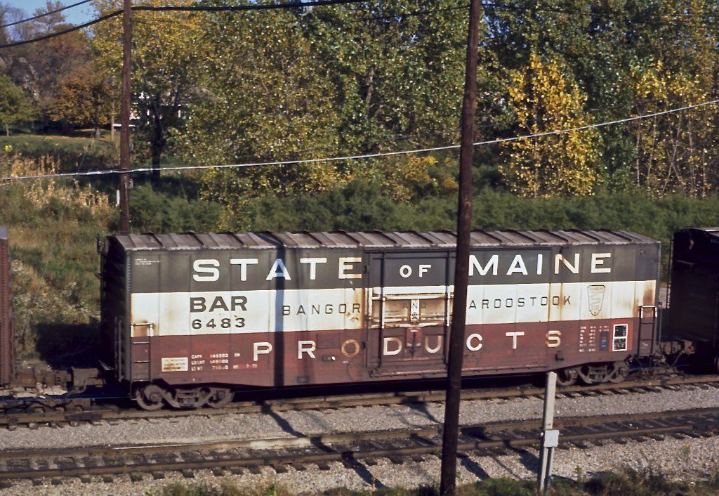 Railroads, Chicagostyle, Bangor and Aroostook boxcar 6483