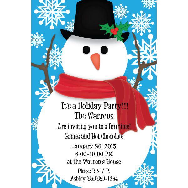 awesome snowman birthday party invitations ideas bagvania