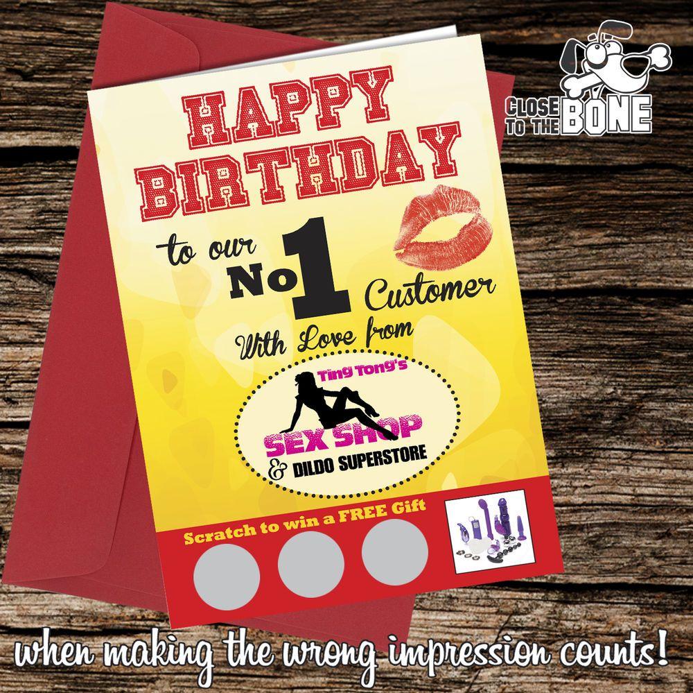 #237 SEX SHOP Joke Scratch Card GREETINGS BIRTHDAY Card Comedy Funny Humour Rude  | eBay