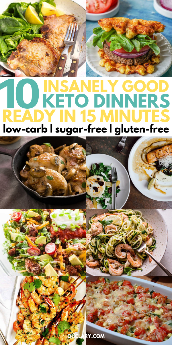 10 Quick Keto Dinner Recipes That Are Ready In Less Than 15 Minutes images