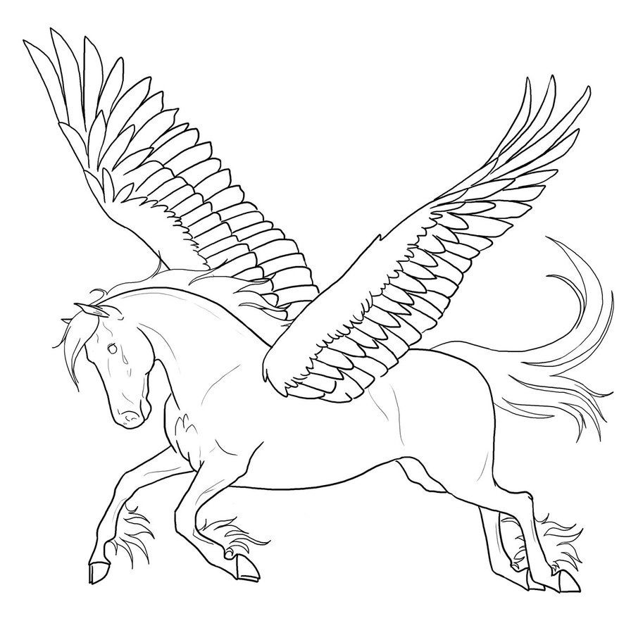 Free Printable Pegasus Coloring Pages For Kids | Coloring pages ...