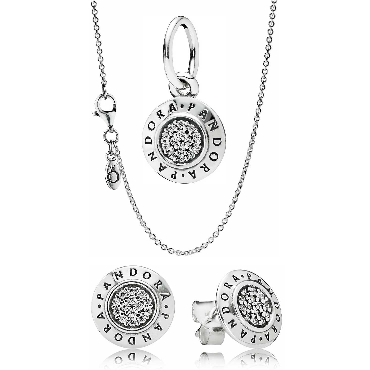 Pandora Signature Set Gift Set Earring Gift Set Pandora Earrings Pandora Necklace