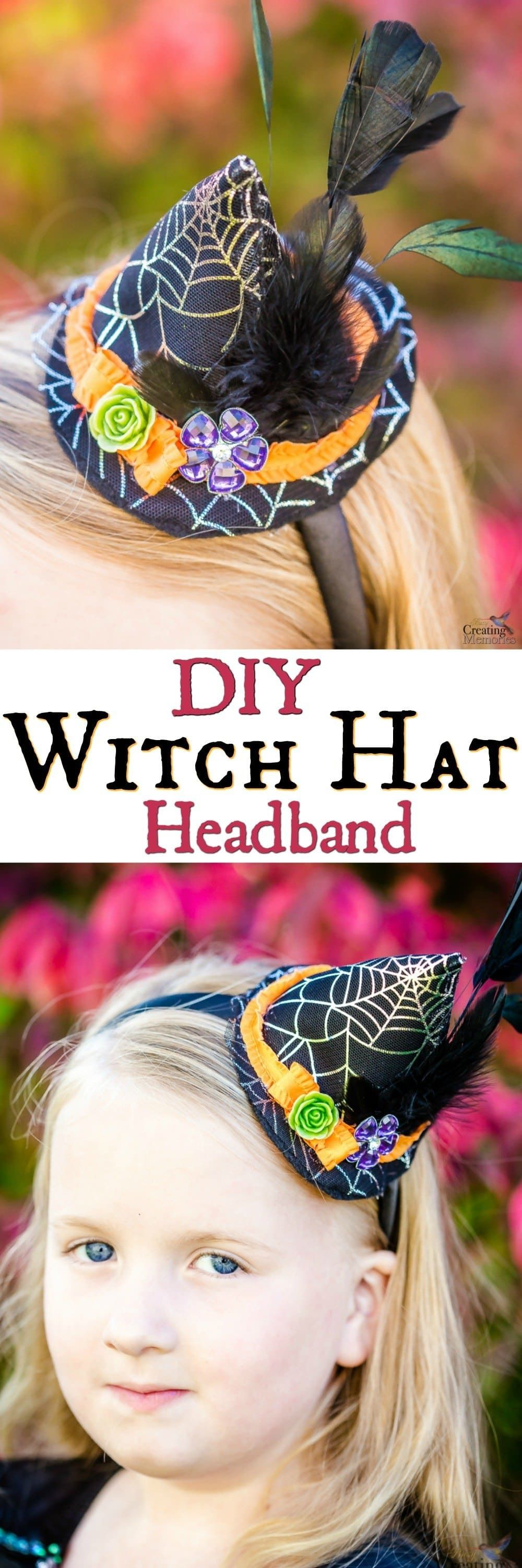 e41adc66258 This is a quick and easy step by step DIY tutorial pattern on how to make a Mini  witch hat headband for your baby