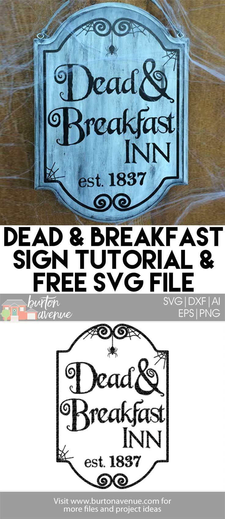 Dead and Breakfast Halloween Sign Burton Avenue