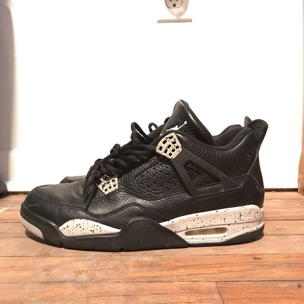 promo code 94c5f adcaf Air Jordan IV 4 Retro LS Black Tech Grey Black Oreo Size 11  fashion   clothing  shoes  accessories  mensshoes  athleticshoes (ebay link)