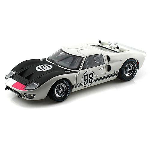 Gt Racing 2 The Real Car: 1966 Ford GT- 40 MK 2 White / Black #98