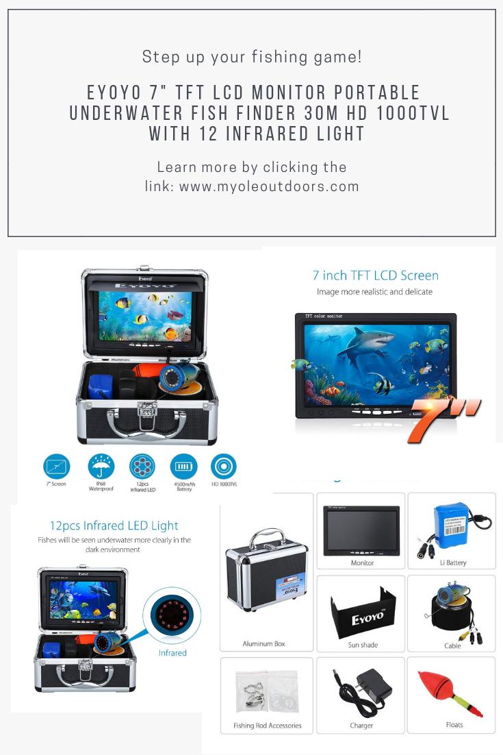 Eyoyo Portable 7 Inch Lcd Waterproof Underwater Fish Finder Hd