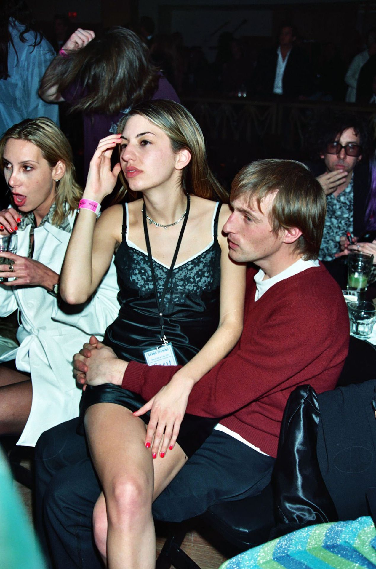 Sofia Coppola with Spike Jonze in 1995. Never mind Tim Burton is in the back haha