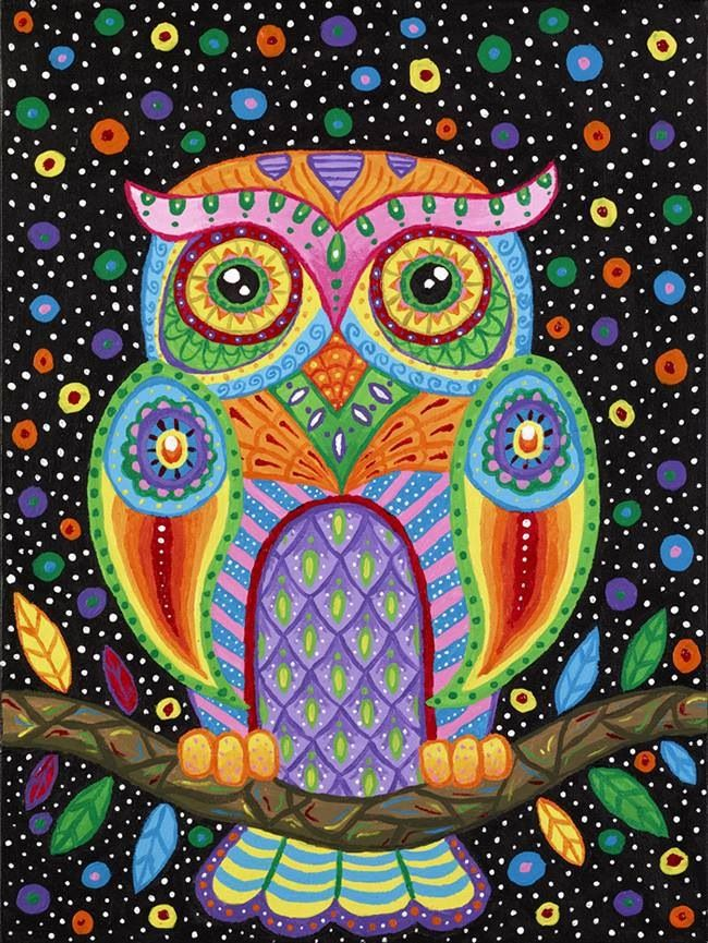 Octavia Owl By Liquid Mushroom Outstanding Color Coloring