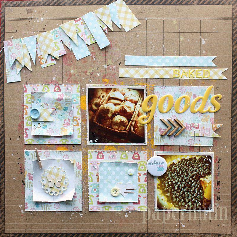 Paperiliitin: Baked goods / Sketchbook October