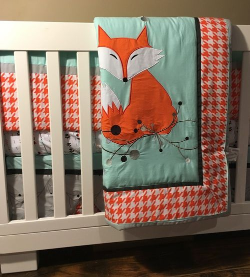 The Hallam Family Baby Room Ideas: DKL Designs Clever As A Fox Crib Bedding Set