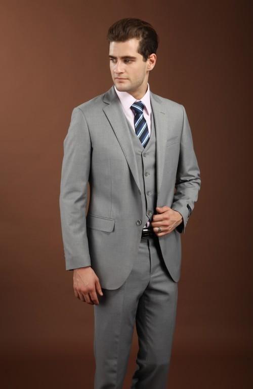 New bridal dress, notched LAPEL SUIT, light grey best man / Groom ...