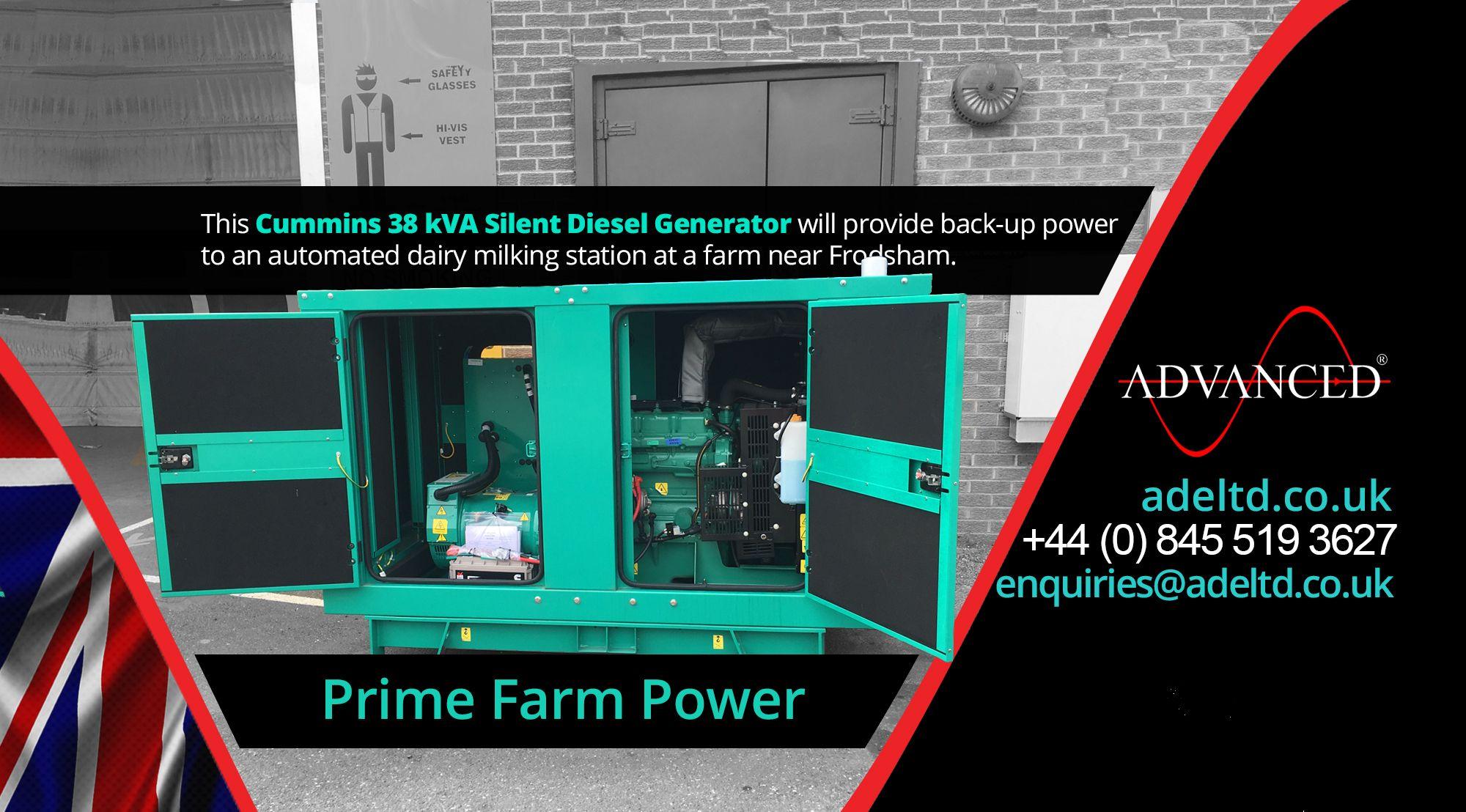Prime Farm Power This Cummins 38 kVA Silent Diesel Generator will