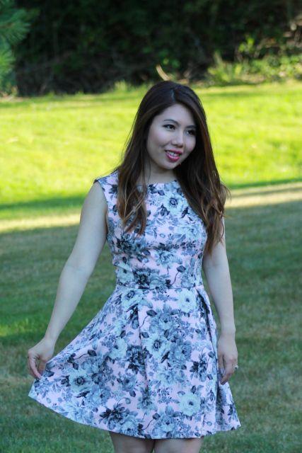 Blush Floral Fit & Flare Dress