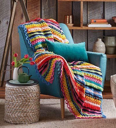 Stunning Rainbow Crochet Winter Throw Better Homes and Gardens