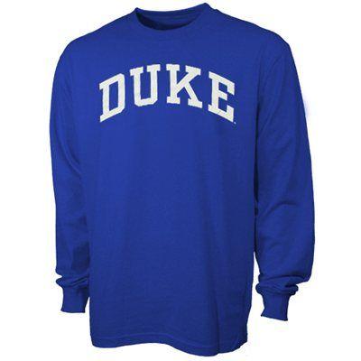 ec0f78c48cb Duke Blue Devils Royal Blue Vertical Arch Long Sleeve T-shirt ...