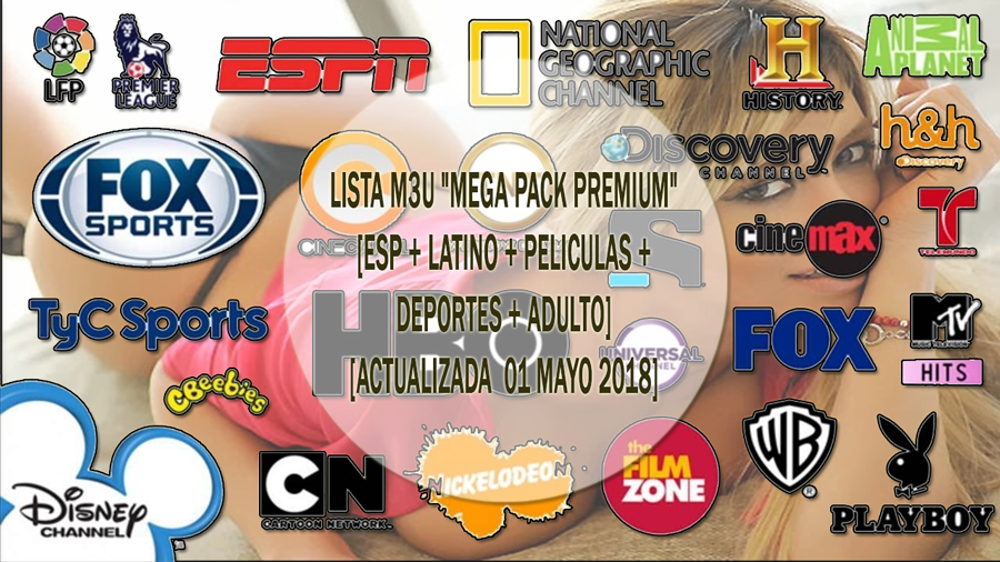 Lista M3u Mega Pack Premium Actualizable Esp Latino Peliculas Musica Deportes Adulto Actualizada Mayo 201 Mega Pack Rapido Y Furioso 3 Peliculas