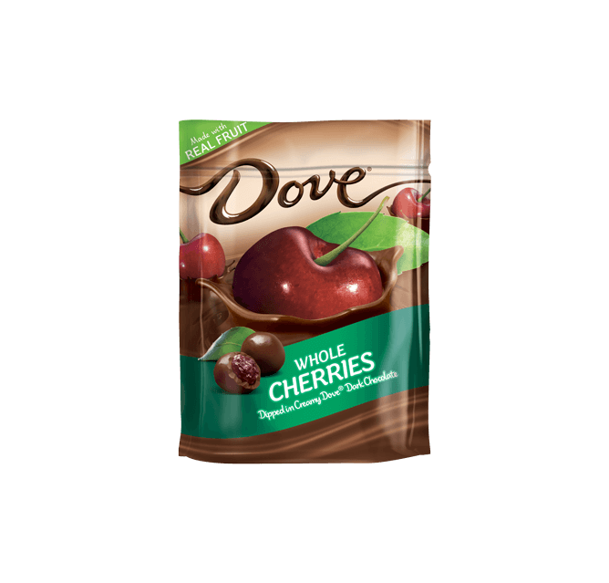 Dove Real Fruit Whole Cherries Fruit, Food, Chocolate