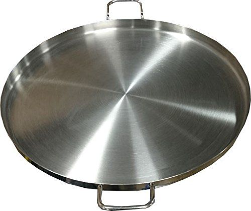 Bioexcel Comal Stir Fry Griddle Stainless Steel Pan Flat Round 24 Inch Choose Size 12 Stainless Steel Griddle Grill Fries Stainless Steel Pans