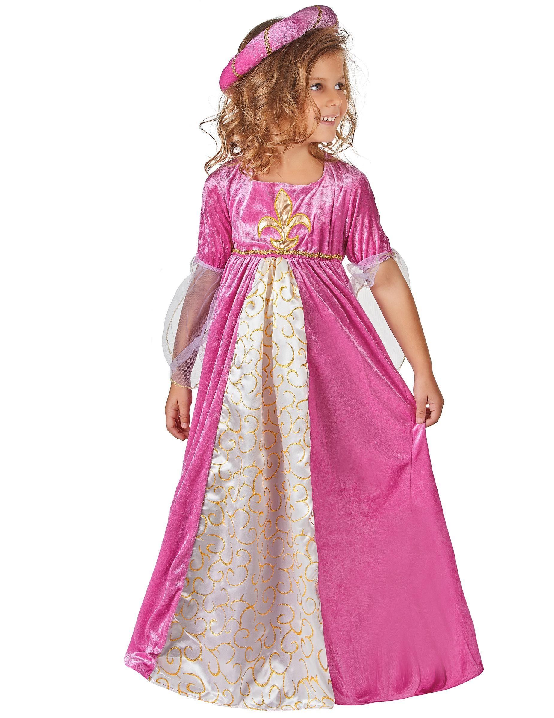 71623d3cd09 Déguisement princesse médiévale fille   Ce déguisement de princesse  médiévale pour fille se compose d