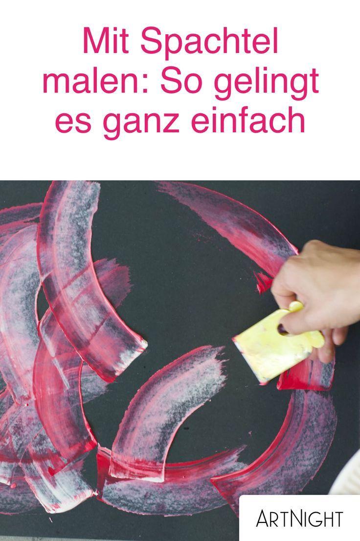 Anleitung – Mit Spachtel malen: Neon auf Schwarz – ArtNight