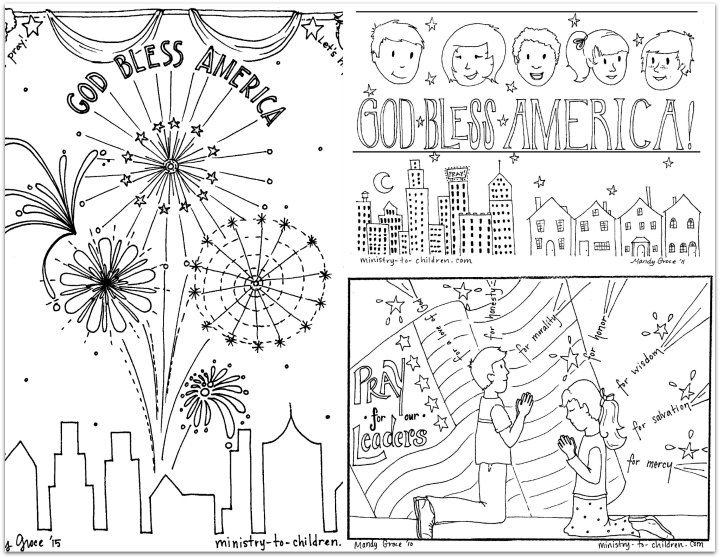 Do you need a patriotic coloring sheet for Fourth of July? These - new 4th of july coloring pages preschool