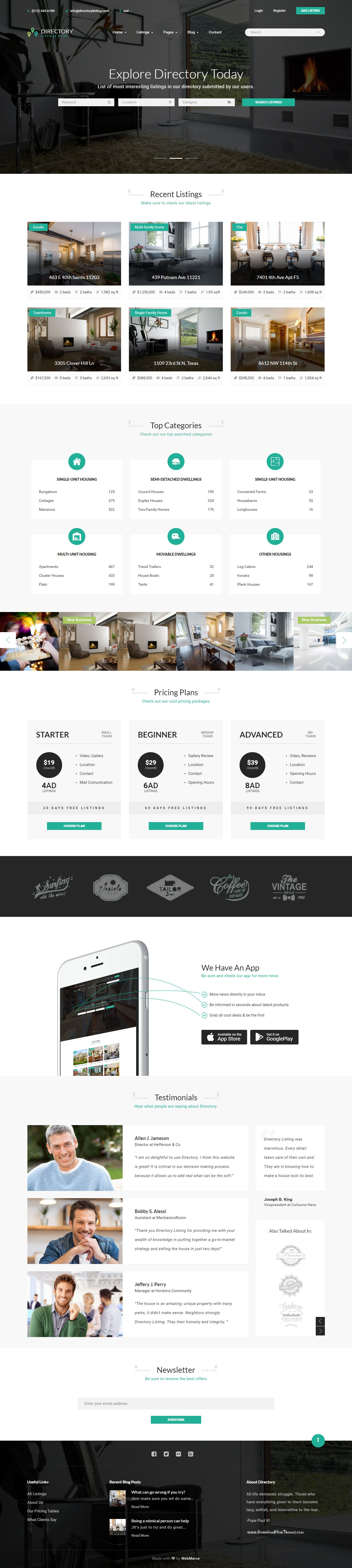 directory point multipurpose bootstrap html template download a