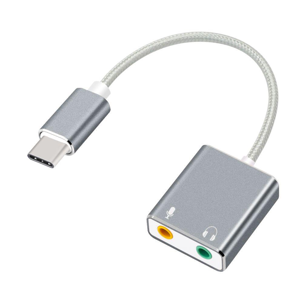 Usb Karte.Usb Typ C Externe Soundkarte 3 5mm Typ C Adapter Audio Karte Usb C