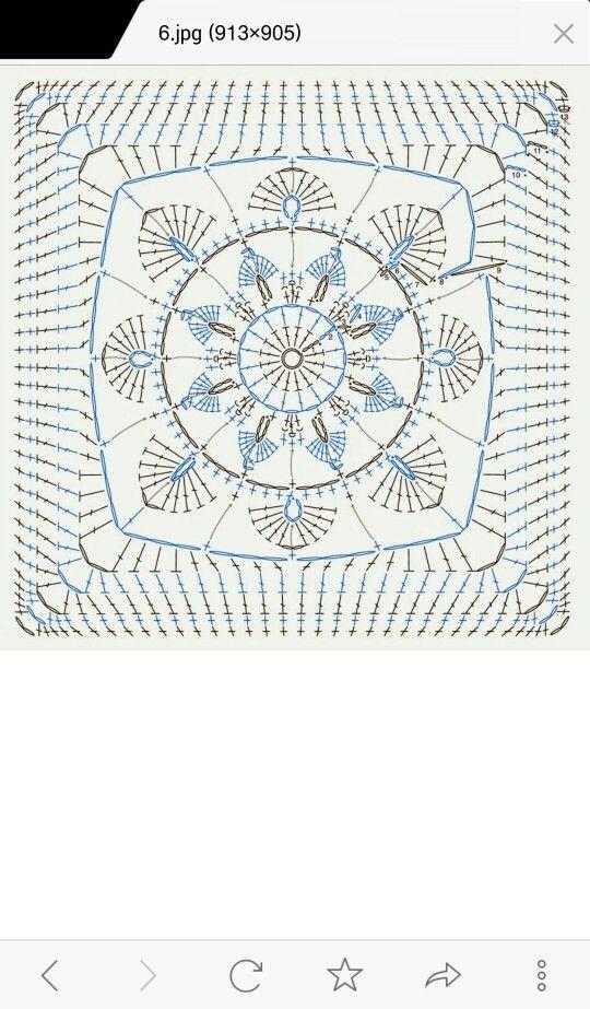 Pin de Rosa Liendo en Crochet puntos | Pinterest | Cuadrados ...
