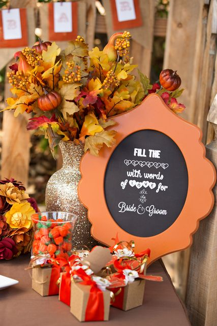 Fall/Autumn Bridal/Wedding Shower Party Ideas | Wedding ...