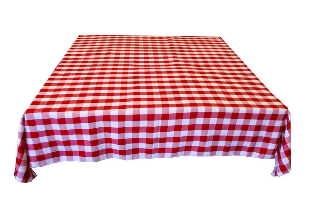 $14 In Los Angeles ArtOFabric 58 X 58 Inch Gingham Checker 100% Polyester  Tablecloth/