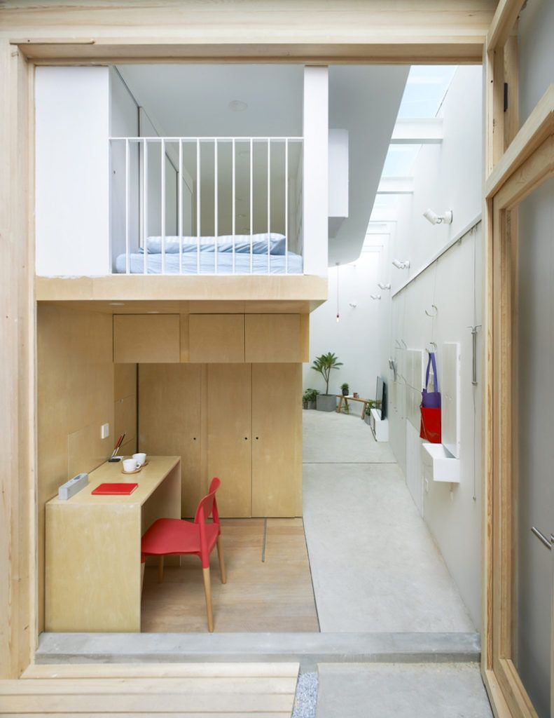 Tiny Family House Fits Between A Wall And A Building | Loft ...