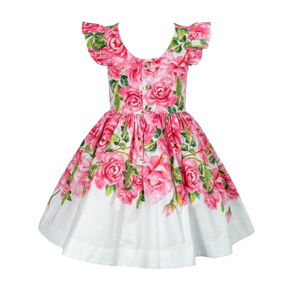 Vestido Floral Rosas Festa | vestidos niña | Pinterest | Moda ...