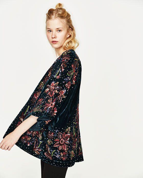 Imagen 5 de KIMONO LENTEJUELAS de Zara | Wishlist Fashion | Pinterest