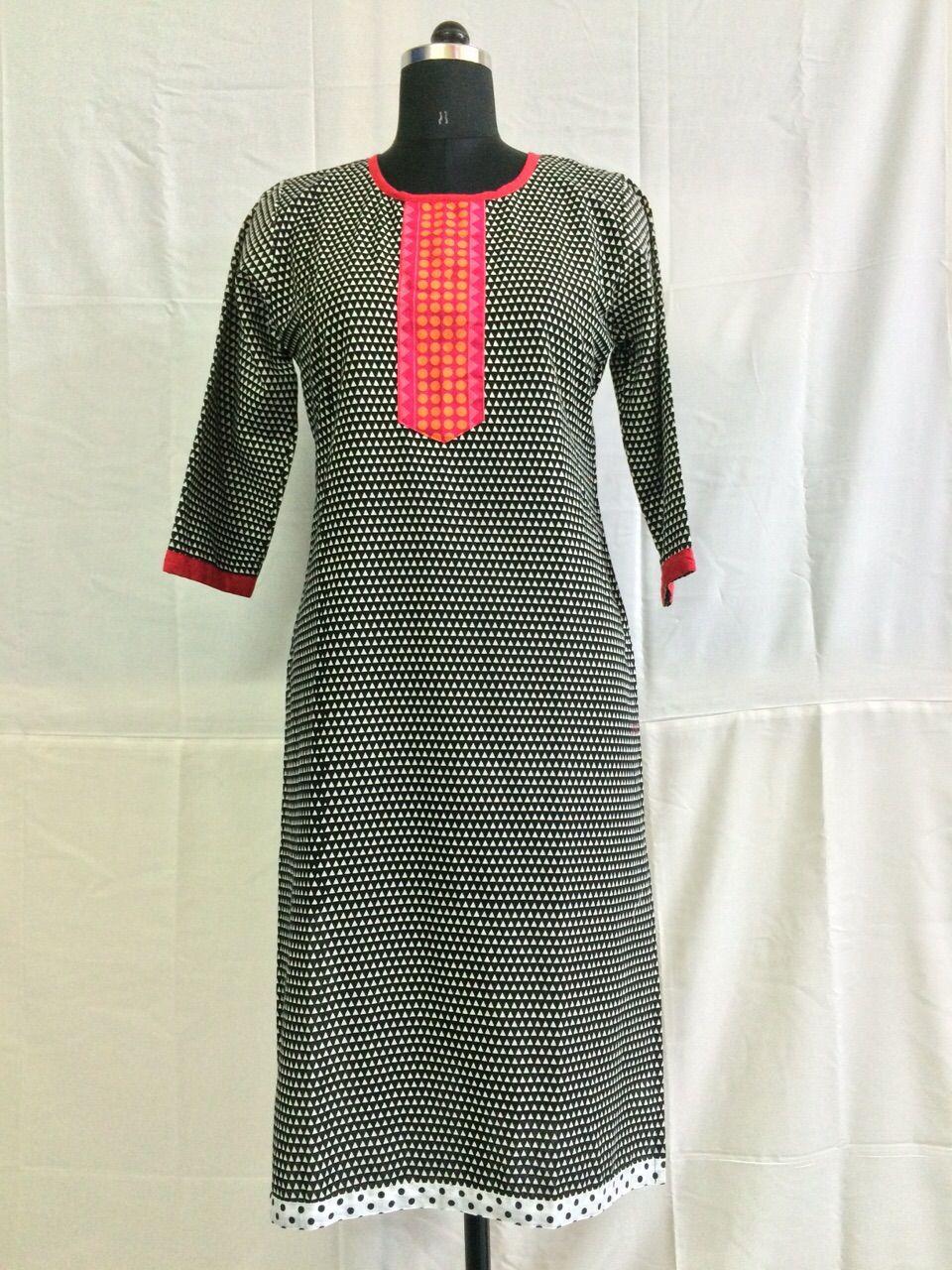 a1776a4125b6 Natural look of half sleeves cotton kurti Buy Shop