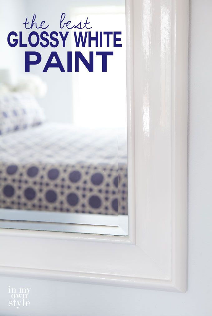 Find out what the 2 best glossy white paints are to use when you